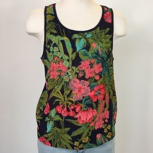 9-h15 st cl size S navy green pink tropical tank